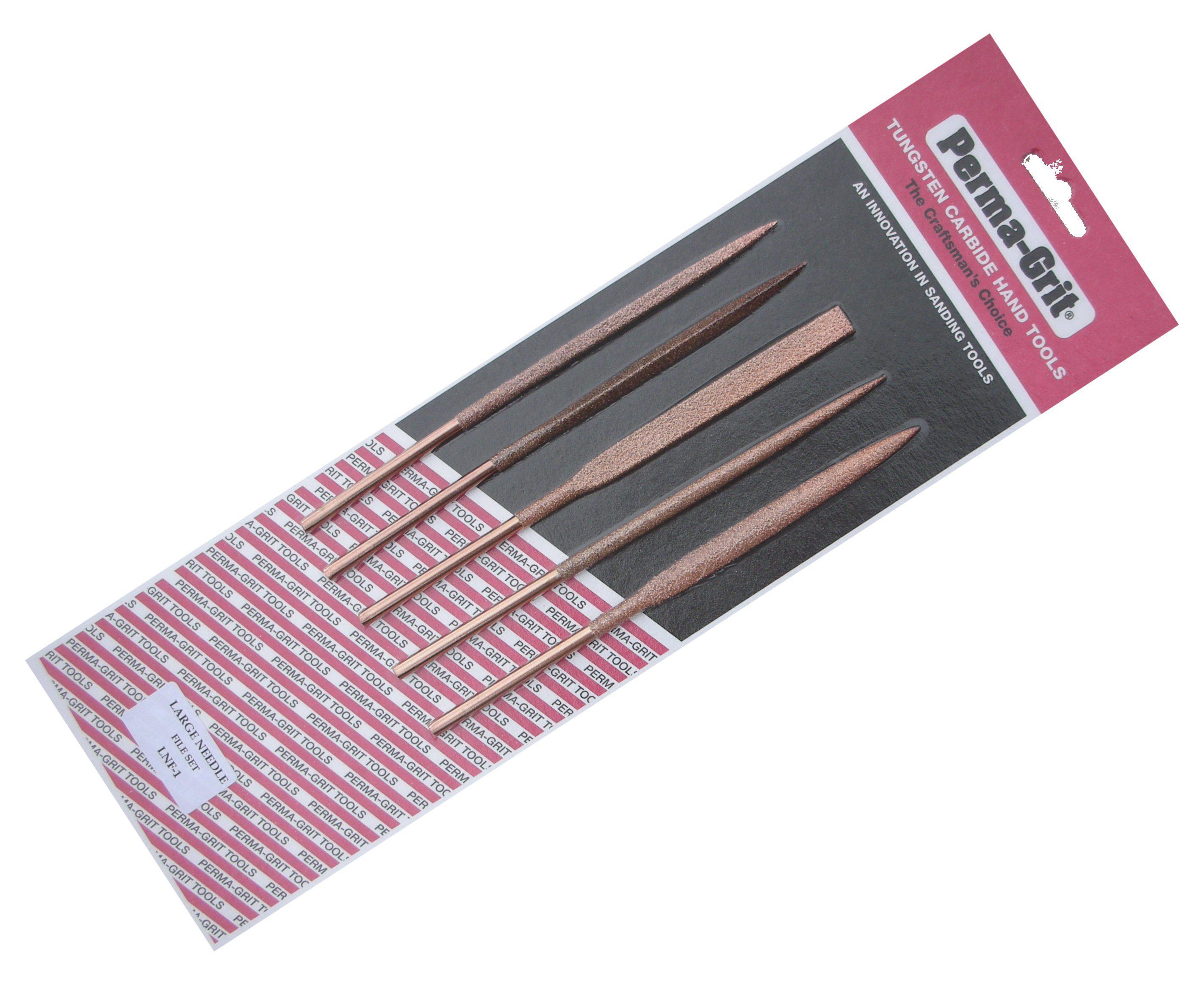 SET OF 5 Large Needle Files 18 cm